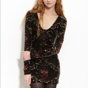 Free people Burnout Velvet Dress